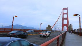 Timelapse of traffic on the Golden Gate Bridge 4K stock video footage