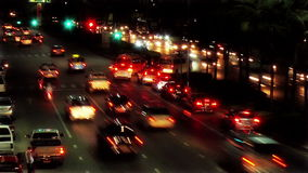 Timelapse traffic stock footage