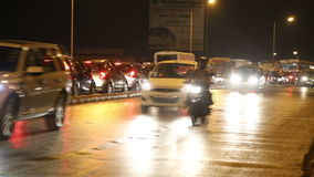 Timelapse of traffic at the streets of Mumbai. stock footage