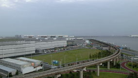 Timelapse of transportation surrounding the airport. stock video footage