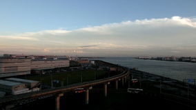 Timelapse of transportation surrounding the airport. stock footage