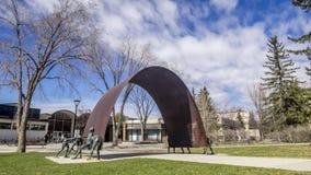 Timelapse, University of Calgary stock video footage