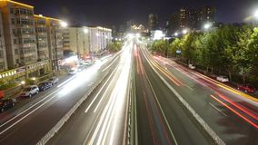 Timelapse urban traffic at night. Gh2_06783 stock video footage