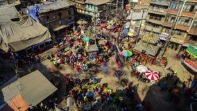 Timelapse van Asan Chowk in Katmandu, Nepal stock footage