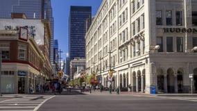 Timelapse van Calgary ` s Stephen Avenue stock videobeelden