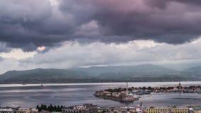 Timelapse van de Haven van Messina in Sicilië stock videobeelden