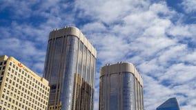 Timelapse van de horizon van Calgary ` s stock videobeelden