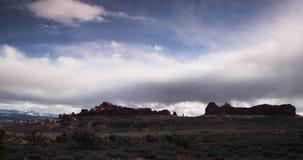 Timelapse van de woestijn en de canions in Utah stock video