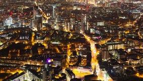 Timelapse van een stad bij nacht stock footage