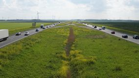 Timelapse van een Weg in Flevoland, Nederland stock video