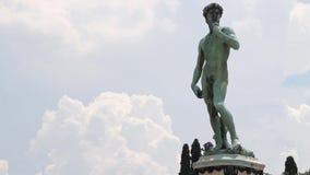 Timelapse van het beroemde standbeeld van David in Florence, Italië stock videobeelden