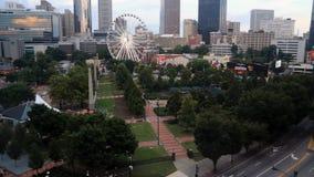 Timelapse van het honderdjarige Olympische Park van Atlanta ` s stock footage