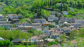 Timelapse van Historische Witte Huizen, Sirince-Dorp, Izmir, Turkije stock footage