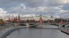Timelapse van Moskou het Kremlin stock footage