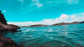Timelapse van overzees en eilanden stock video