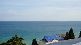 Timelapse van overzeese golven in de Yalta-Golf stock video