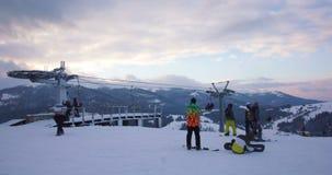 Timelapse van skilift stock footage