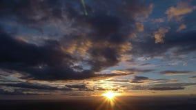 Timelapse van zonsondergang stock video