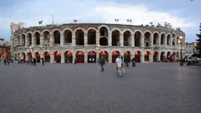 Timelapse at Verona Arena, Italy stock video