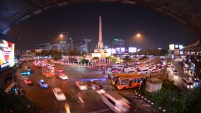 Timelapse, The Victory monument roundabout traffic, Bangkok, Thailand. stock video