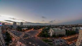 Timelapse Victory Square, Bucarest de Bucarest almacen de metraje de vídeo