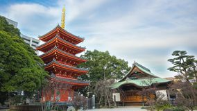 Timelapse video av den Tochoji templet i Hakata, Japan tidschackningsperiod stock video