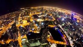 Timelapse video av Melbourne på natten stock video