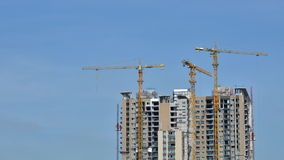 Timelapse video of Building Under Construction stock footage