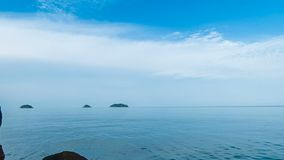 Timelapse video of clouds moving over the sea. Near Koh Chang island, thailand stock footage
