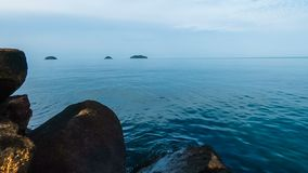 Timelapse video of clouds moving over the sea. Near Koh Chang island, thailand stock video footage