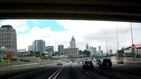 Timelapse video driving thru atlanta stock footage