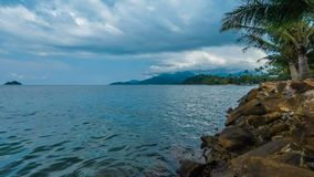 Timelapse video of Koh Chang island. Timelapse video of clouds moving over Koh Chang island, Thailand stock video