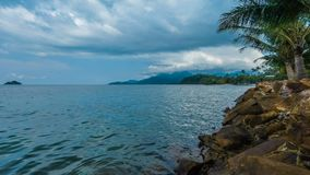Timelapse video of Koh Chang island. Timelapse video of clouds moving over Koh Chang island, Thailand stock footage