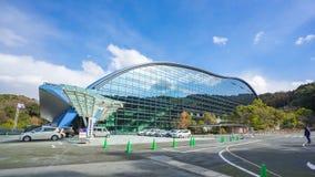 Timelapse video of Kyushu National Museum Kyuhaku in Dazaifu, Japan, time lapse 4K stock footage