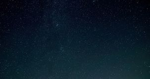 Timelapse video of night sky with falling stars stock video