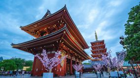 Timelapse video of people are traveling at Sensoji Temple in Tokyo, Japan, timelapse 4K.  stock footage