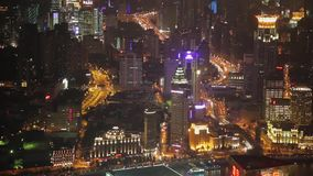 Timelapse video of Shanghai CBD at night.  stock footage