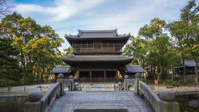 Timelapse video of Shofukuji Zen Temple in Fukuoka, Japan time lapse 4K.  stock video footage