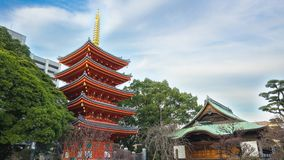 Timelapse video of Tochoji Temple in Fukuoka, Japan time lapse 4K.  stock footage