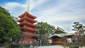 Timelapse video of Tochoji Temple in Hakata, Fukuoka, Japan.  stock video footage