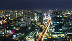 Timelapse view of Bangkok city scape at sunset. Thailand stock footage