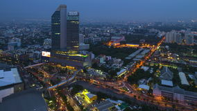 Timelapse view of Bangkok city scape at sunset stock video