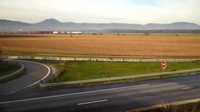 Timelapse view of cars traffic on motorway. Alsace, France stock video footage