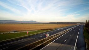 Timelapse view of cars traffic on motorway. Alsace, France stock footage
