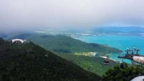 Timelapse view from the hihgest peak in Langkawi stock video footage