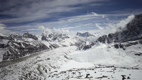 Timelapse view Kala Patthar stock video footage