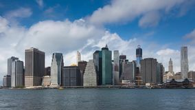 Timelapse view of Manhattan in New York stock footage