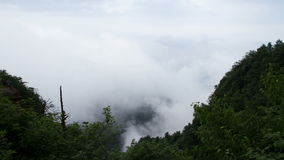 Timelapse view in Mount Emei Stock Photography