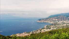 Timelapse with view of Mount Vesuvius, Bay of Naples, Italy stock video