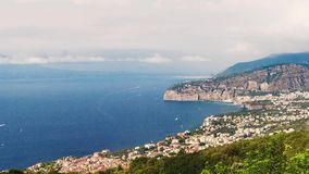 Timelapse with view of Mount Vesuvius, Bay of Naples, Italy stock footage